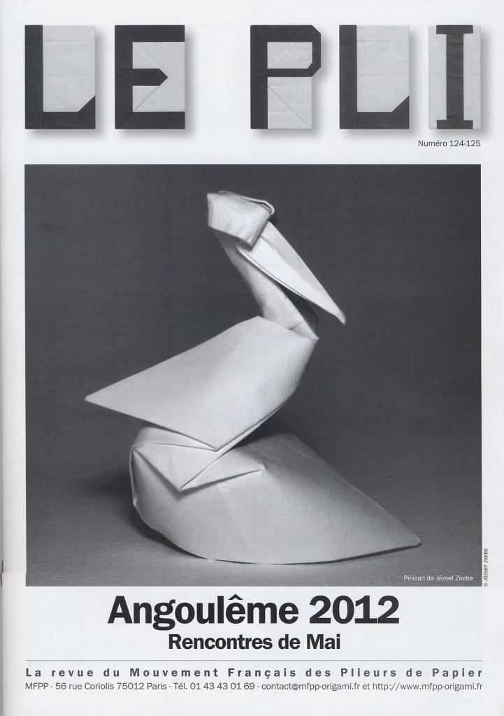 Origami Le le pli n 124 125 2012 mouvement français des plieurs de papier