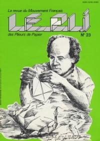 Couverture du Pli n°23 (1985)