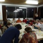 Soirée de pliage avec les membres d'Origami Alsace