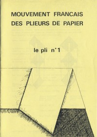 couverture du Pli n°1 (1979)